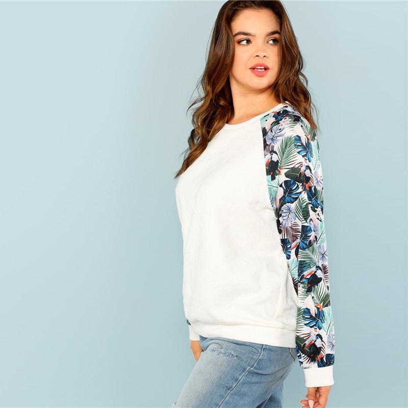 Tropical Print Sweatshirts Autumn 2