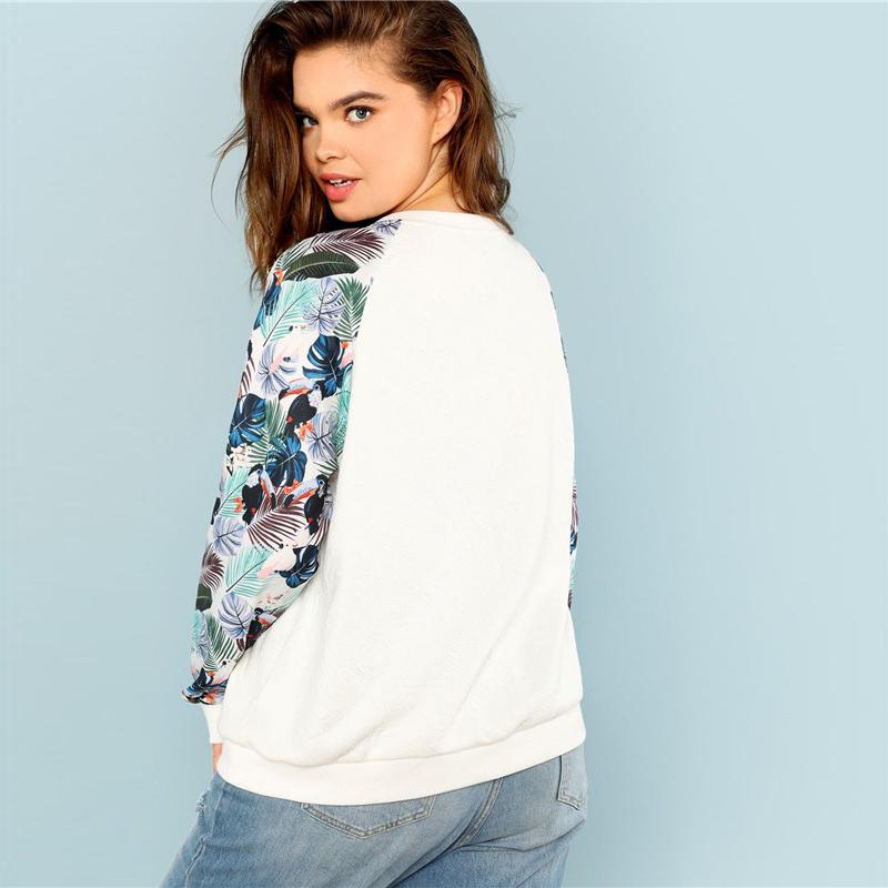 Tropical Print Sweatshirts Autumn 3