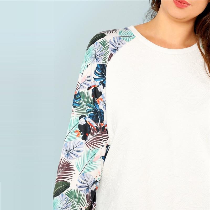 Tropical Print Sweatshirts Autumn 4