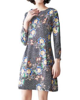 Vintage Printing Floral Dress