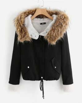 Winter Hooded Womens coat