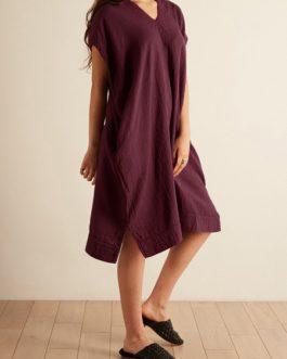 Women Back Hollow Loose Dress