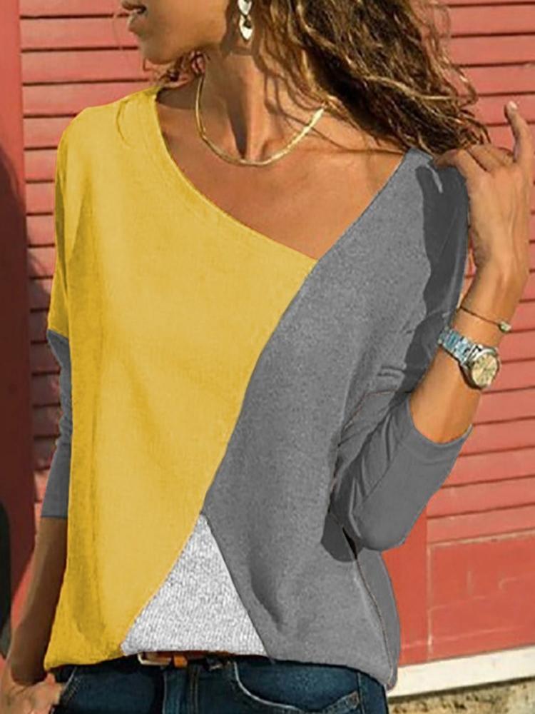 Asymmetrical Collar Long Sleeve Blouse6