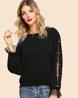 Autumn Workwear Women Pullovers Sweatshirts