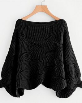Boat Neck Autumn Casual Women Sweaters