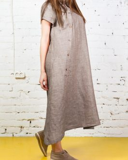 Casual Women Loose Solid Color Dress