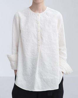 Cotton Long Sleeve Casual Blouse