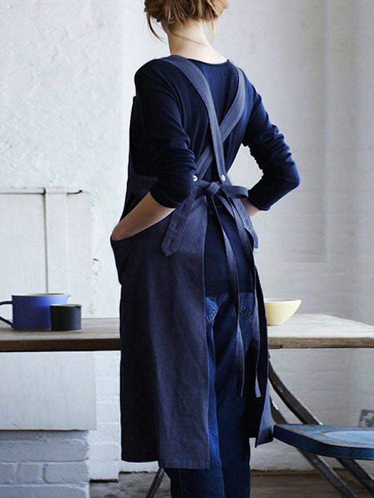 Cross Cotton Vintage Apron Dress
