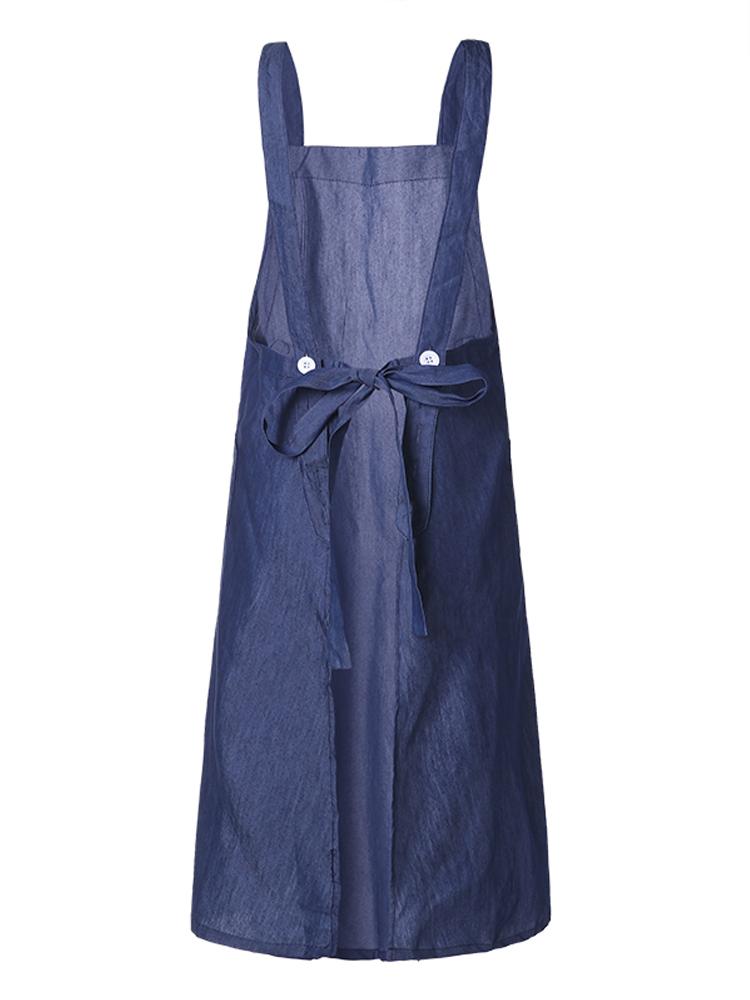 Cross Cotton Vintage Apron Dress2