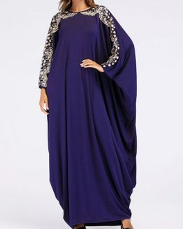 Embroidered sequins bat  Rob Islam Muslim dress