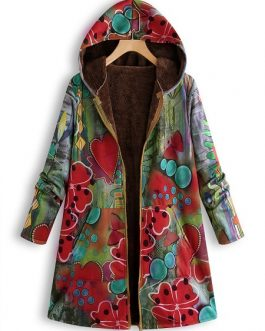 Floral Print Hooded Vintage Jacket