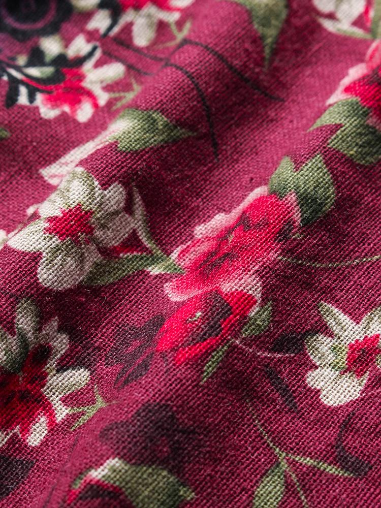 Floral Print Patchwork 3 4 Sleeve Blouse8