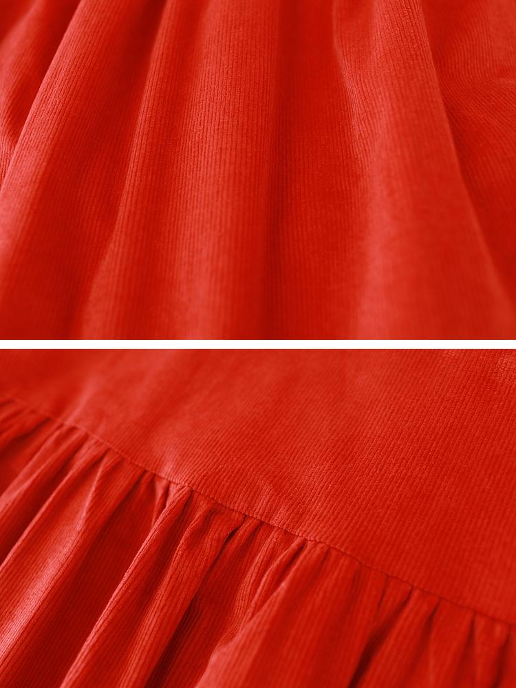 Hooded Women Corduroy Vintage Dress9