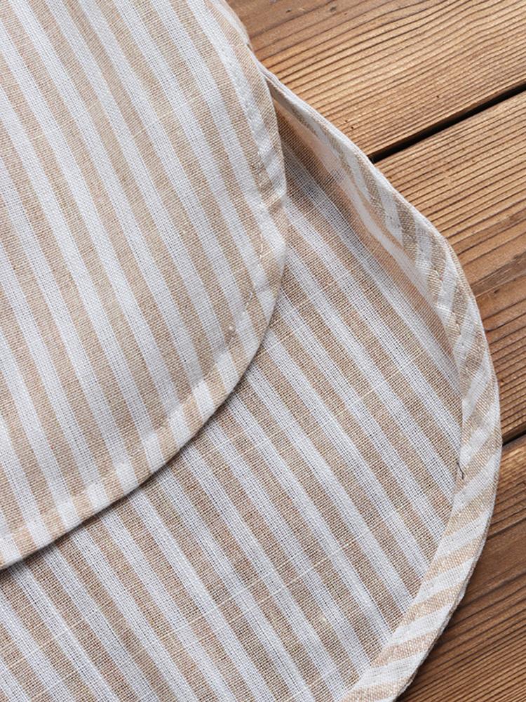 Irregular Loose Stripe V Neck Blouse8