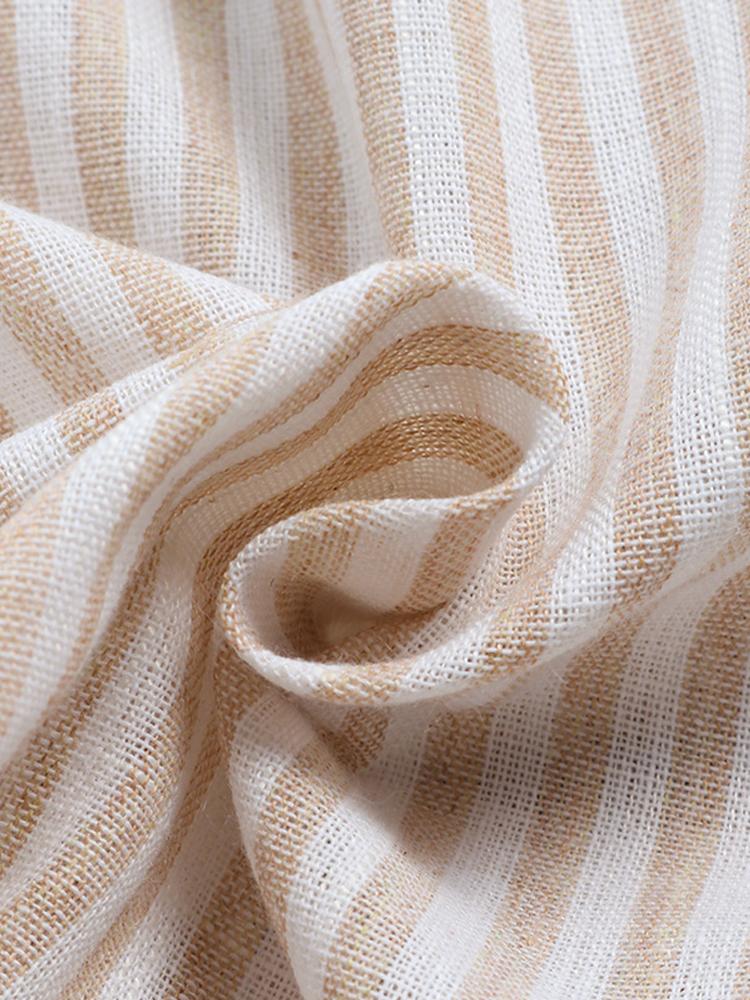 Irregular Loose Stripe V Neck Blouse9