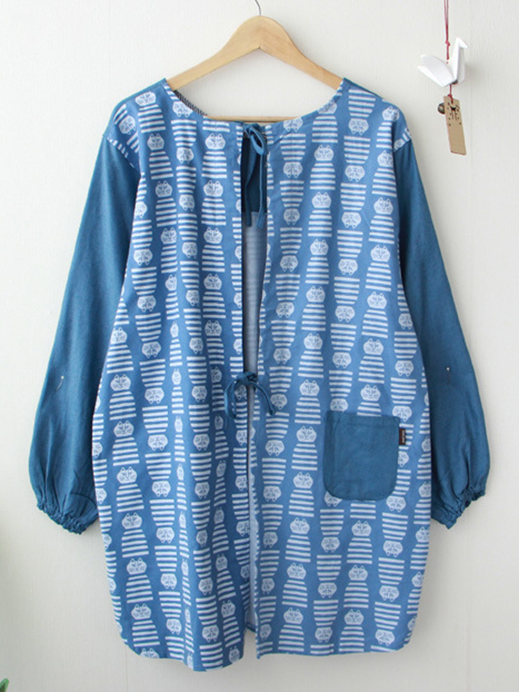 Long Sleeve Apron Vintage Dress1