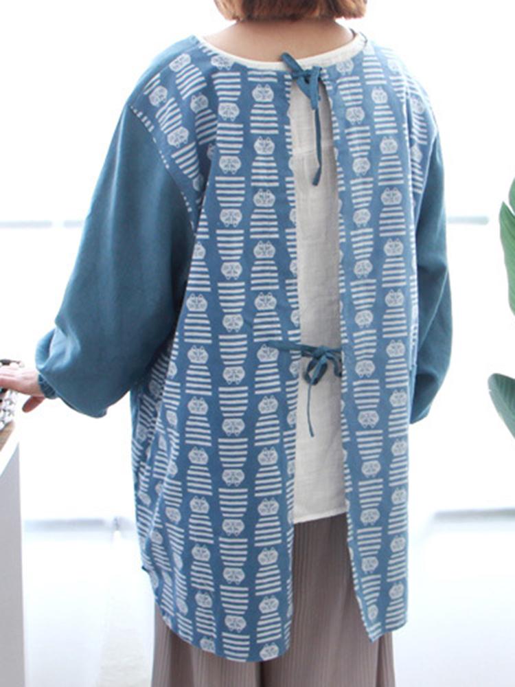 Long Sleeve Apron Vintage Dress3