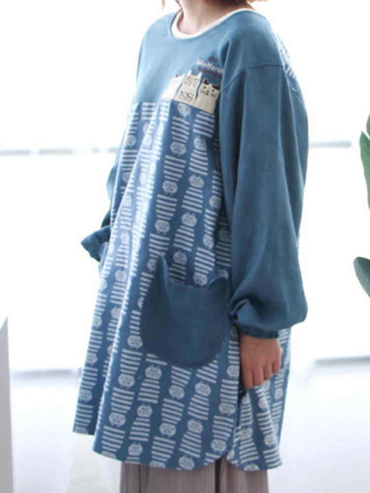 Long Sleeve Apron Vintage Dress4