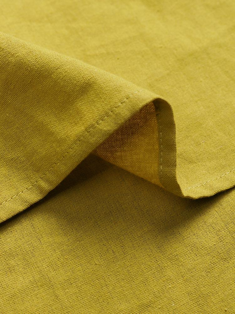 Pure Color Cotton Vintage Blouse8