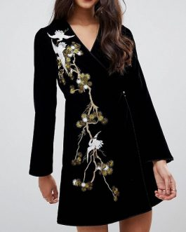 Women's Vintage Aline Embroidery Dress