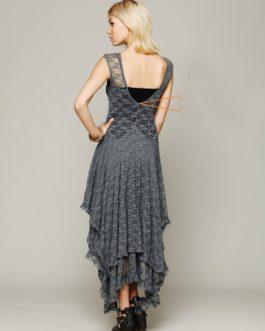 Asymmetrical Backless Beach Wear Office Lady Dress