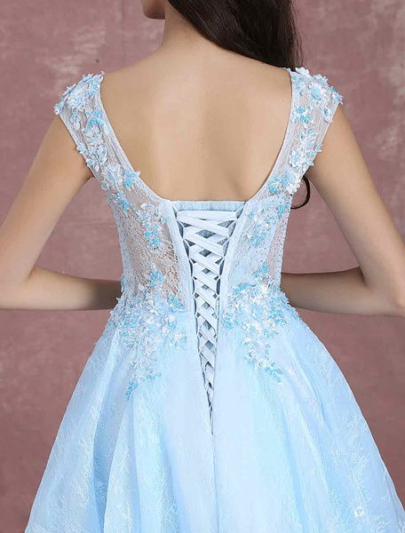 Blue Pageant Backless Maxi Prom Dresses Power Day Sale