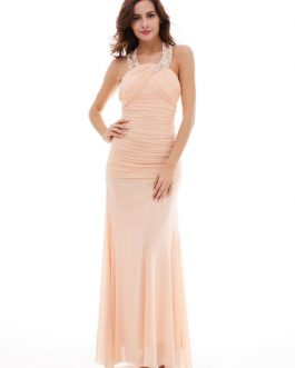 Long Prom Mermaid Chiffon Formal Evening Dresses