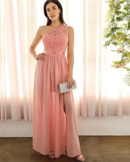 Maxi Dress Women Empire A Line Slit Hem Long