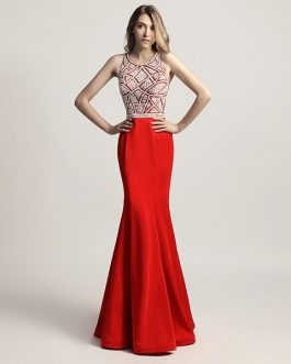 Prom Long Dresses Sleeveless Fashion Women Evening Party Gown