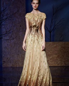 Sequin Evening Embroideries Mother Of The Bride Dress