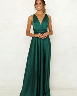Sexy Maxi Knotted Backless Party Dress