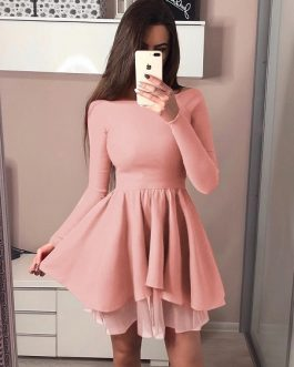 Spring Butterfly Sleeve Wrap Mini Women  Dress