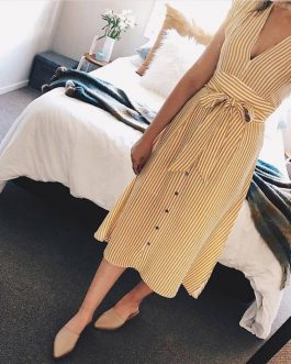 Striped Party Summer Spring Elegant Dress