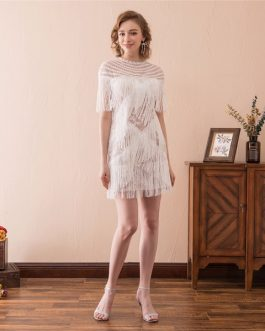 White Cocktail Prom Formal Evening Party Homecoming Dress
