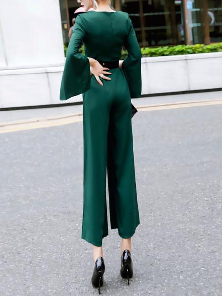 6aa9ed0a74 ... Women Chiffon Jumpsuit V Neck Long Sleeve Wide Leg Jumpsuit. Sale!  Previous Product · Next Product. 🔍. $120.00 $61.54
