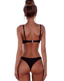 Bikini Swimsuit Straps Sleeveless Sexy 2 Piece Women Bathing Suits