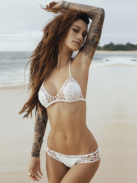 83182f3f63ff1 ... Crochet Nonsmoking Halter Straps Bikini White Polyester Swimsuit For  Women. Sale! Previous Product · Next Product. 🔍. $60.00 $32.28