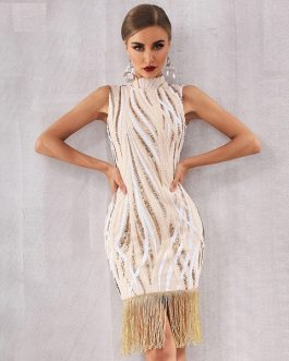 Elegant Sequin Celebrity Evening Party Bodycon Dress