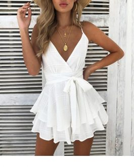 Girl Sexy Boho Floral Playsuit Shorts Jumpsuit Romper