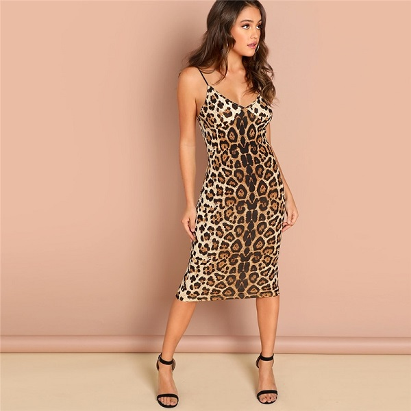 14bf4240e1d Leopard Print Skinny Club Night Out Women Dresses - Power Day Sale