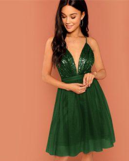 Modern Lady Women Sexy Mini Party Dresses