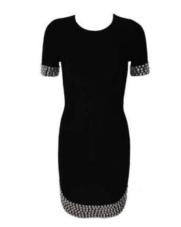 New Bandage Women Elegant Evening Party Vestidos Sexy Bead Club Dress