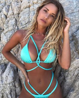 Sexy Bikini Swimwear Halter Strappy Triangle Bikini