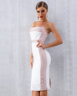 Sexy Bodycon Sleeveless Midi Club Party Dress