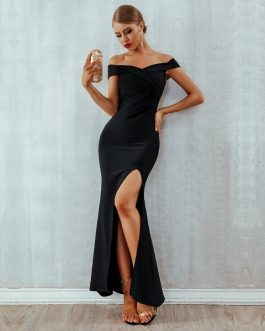 Women Bandage Vestidos Celebrity Long Maxi Party Dress