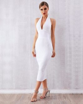 Women Bandage Vestidos Sexy Bodycon Club Dresses