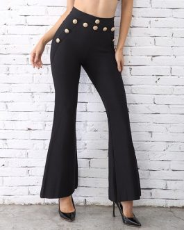 Women Bandage Wide Leg Evening Party Pants Trousers