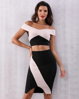 Women Bodycon Bandage Two pieces set