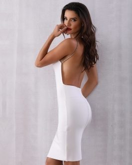 Women Bodycon Sexy Backless Evening Party Dress