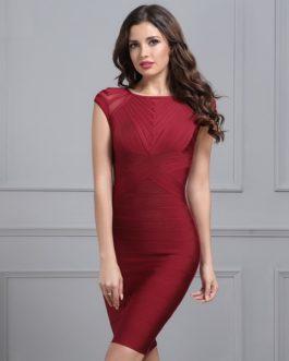 Women Mesh Runway Club Celebrity Evening Party Dress